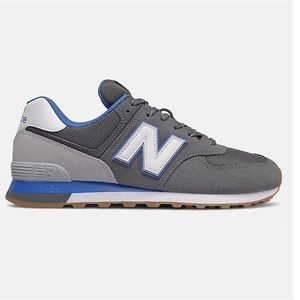 NWOT New Balance 574 Trainers Grey Blue Size 7
